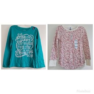 NWT GAP and Old Navy girl long sleeves size 6-7